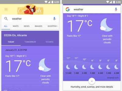 Así es la nueva información del tiempo de Google, ahora con más datos y más visual