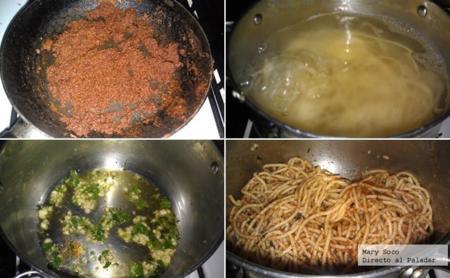 Espagueti Pan Rallado