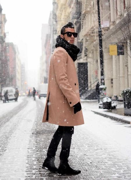 Combinacion Look Abrigo Camel Jeans Vaqueros Tendencia Trendencias Hombre Otono Invierno 2018 04