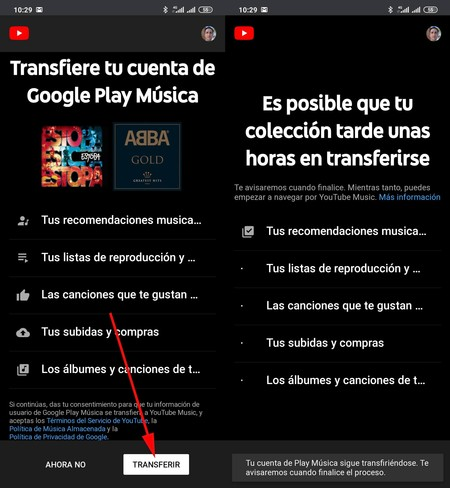 Transferencia Play Music Youtube Music