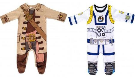 Simpáticos pijamas para pequeños piratas y astronautas