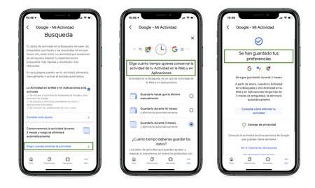 Cambiar Ajustes Google
