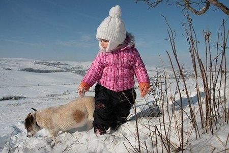 La foto de tu bebé: Daria en la nieve