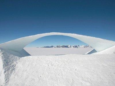 Se construyó el mayor puente de hielo del mundo gracias a Leonardo da Vinci