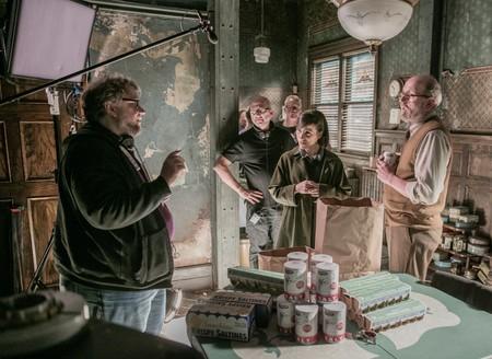 Guillermo del Toro en el rodaje de La forma del agua