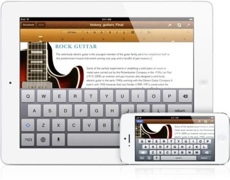 iwork ipad apple pages