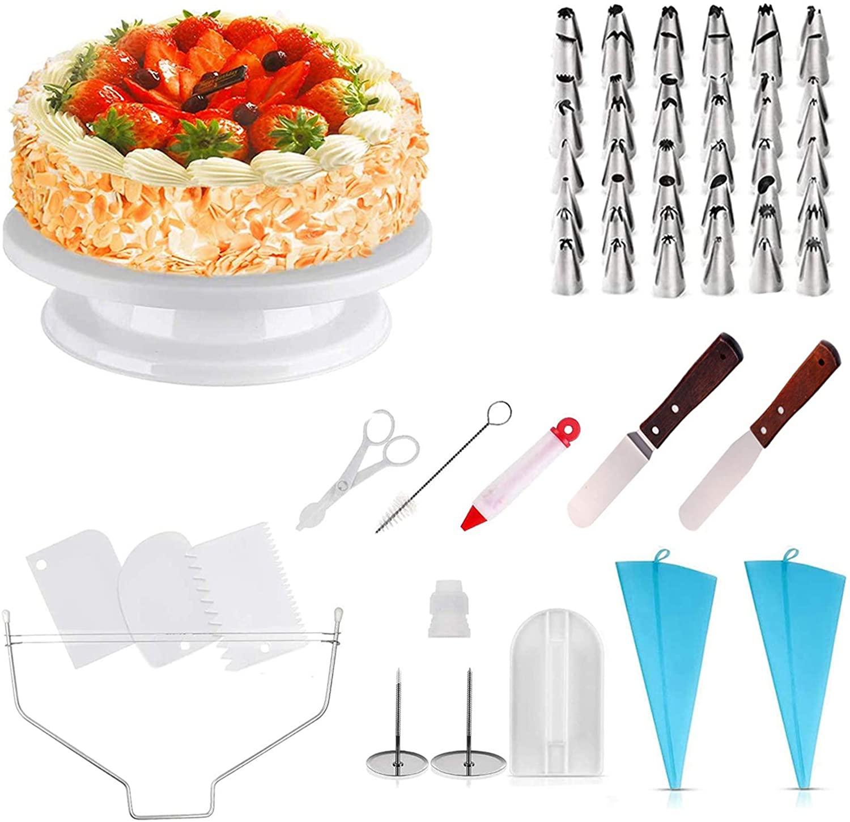 Plato giratorio para tarta + 71 accesorios