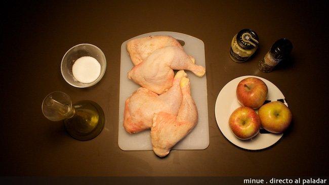 pollo a la manzana - ingredientes