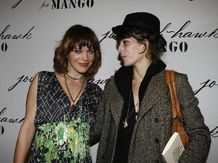Milla Jovovich presentó su colección para Mango en París
