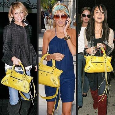 Nicole Richie, Sienna Miller y Jessica Simpson no se separan de su bolso favorito