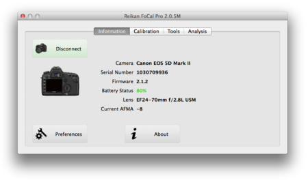 Mac Focal20 Main Screen