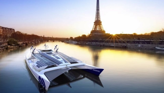 Energy Observer, el primer barco impulsado por hidrógeno, inicia su viaje de seis años alrededor del mundo