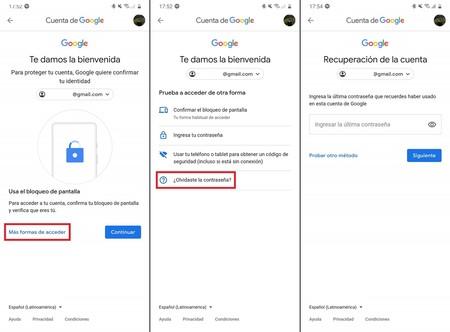 Cambiar Restablecer Contrasena Google