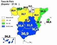 6.200.000 parados en España y record absoluto para Andalucía (mapa)