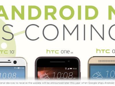 HTC 10, One A9 y One M9, los smartphones de HTC que recibirán Android N