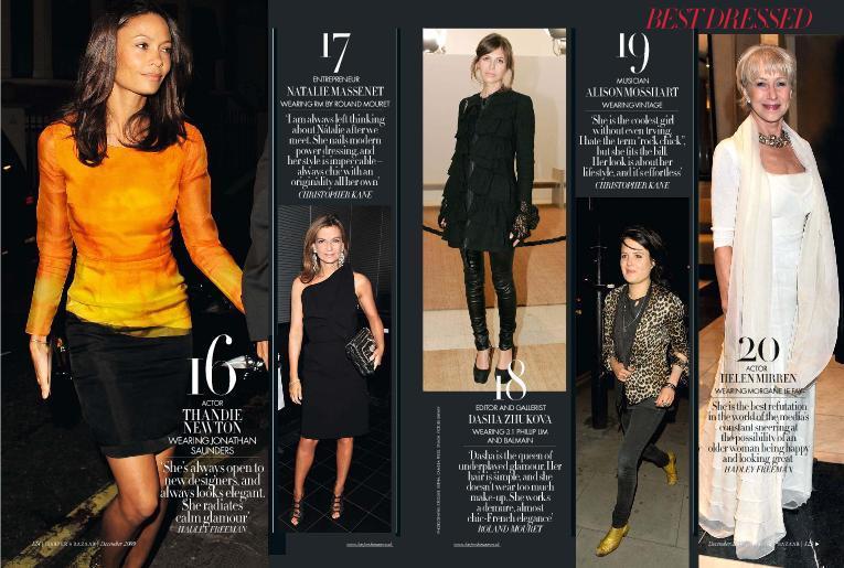 Foto de El Top 20 de las mejor vestidas de 2009 según Harper's Bazaar (6/9)