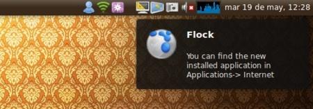 WIA: notificación de dónde encontrar una aplicación tras ser instalada