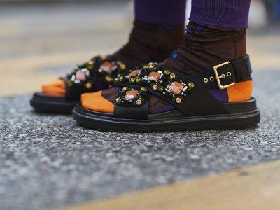 Sandalias con calcetín, el 'arg' más grande de esta temporada