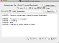 AnyToISO, convierte imágenes de disco