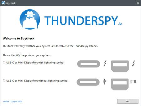 Spycheck Software Seguridad Thunderspy