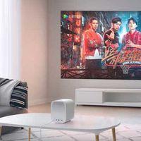 El MIJIA Home Projector Lite es un proyector económico que permite generar imágenes de hasta 200 pulgadas