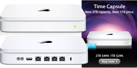 Apple aumenta la capacidad de Time Capsule hasta los 2TB