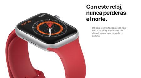 Apple Watch Series 5 brújula