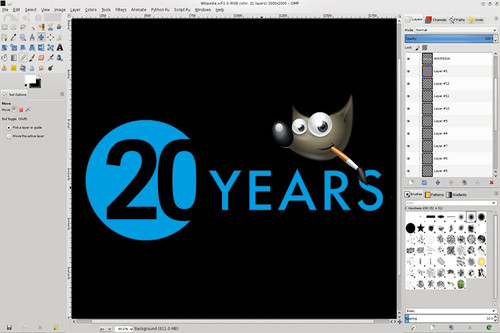 Veinte trucos para celebrar 20 años de GIMP