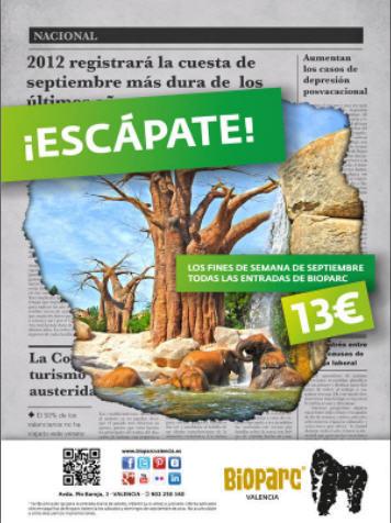 Escapada al Bioparc en Valencia por sólo 13 euros / persona