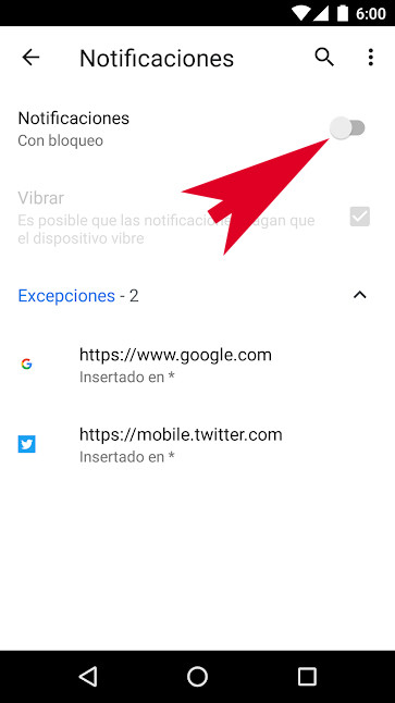 Chrome Notificaciones