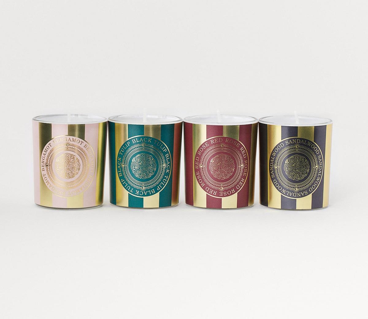 Envase de 4 velas aromáticas
