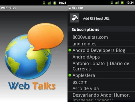 WebTalks te lee tus webs favoritas en Android