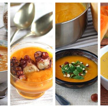 Siete originales cremas de calabaza con un toque especial para aprovechar un ingrediente en plena temporada
