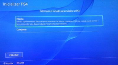 ¿Te sale el error NP-32091-5? Inicializa tu PS4