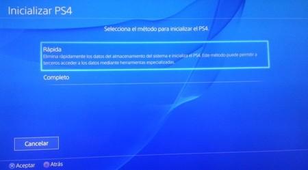 ¿Te sale el error NP-32091-5? Inicializa tu PS4