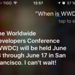 Siri nos confirma la fecha de la próxima WWDC: del 13 al 17 de junio [Actualización: es oficial]