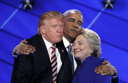 Barack Obama Hillary Clinton Hug Photoshop Battle 8