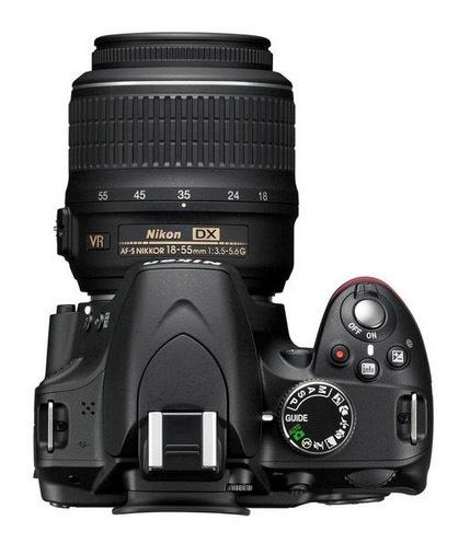 Nikon D3200 desde arriba