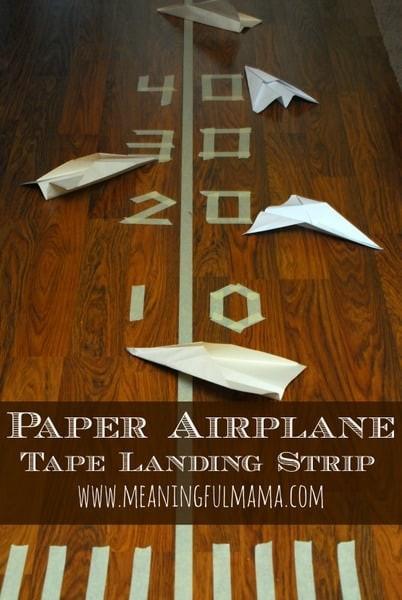 Juegos Actividades Ninos Casa Cinta Adhesiva Aviones