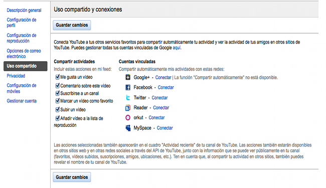 Google Plus y Youtube