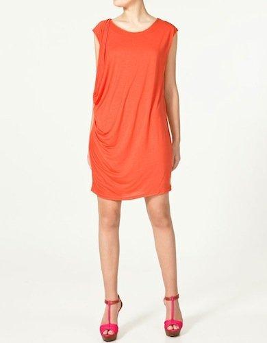 Zara vestido naranja
