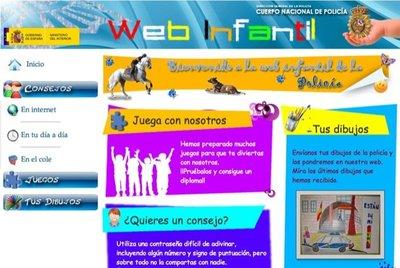 El Cuerpo Nacional de Policía dispone de una página en Internet con información para los niños