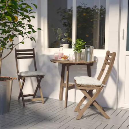 Mesa de exterior para terrazas pequeñas