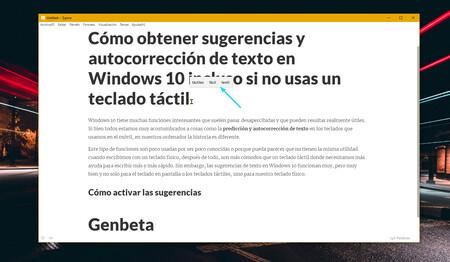 Cómo obtener sugerencias y autocorrección de texto en Windows 10 incluso si no usas un teclado táctil
