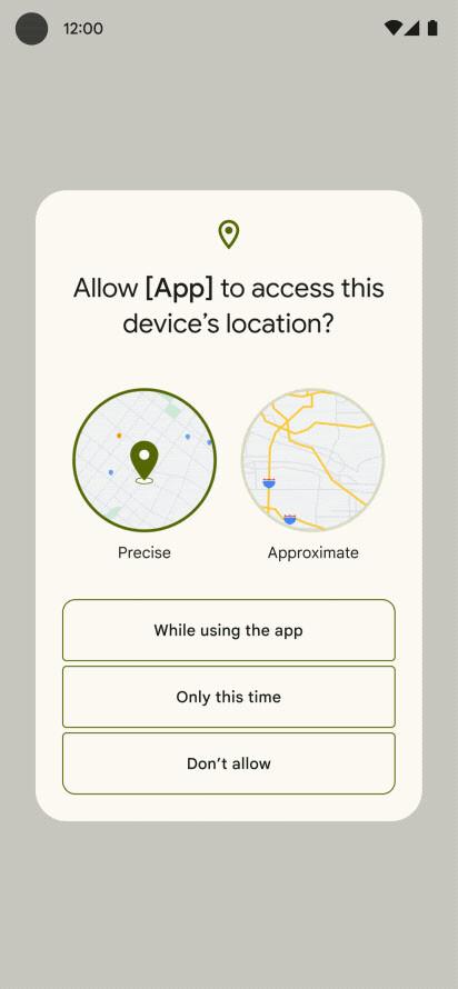 Android 12 Ubicacion