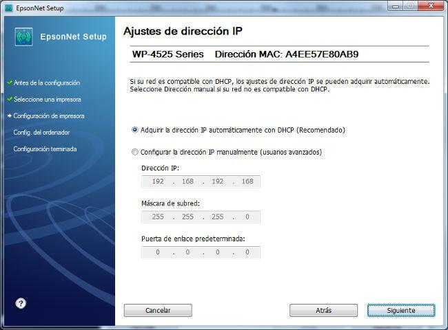 IP impresora