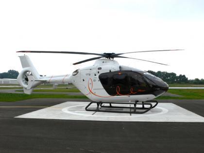 Helicóptero privado con el sello de Hermès