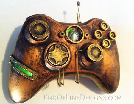 Ojo a este mod: un pad de Xbox 360 estilo steampunk de exquisito diseño