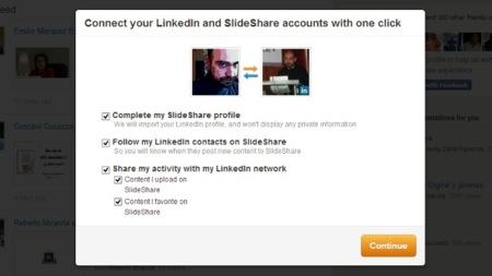 Slideshare ahora permite vincular nuestra cuenta con LinkedIn
