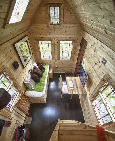 Mini casa de madera
